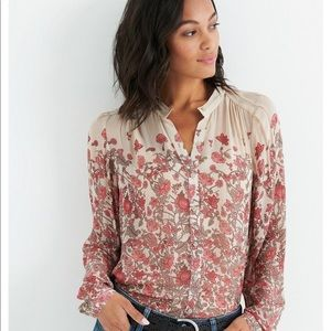 Faded Floral Button Down Shirt